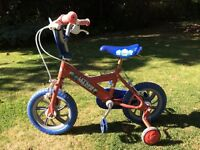 Child's first bike with stabilisers - well used but in working order