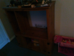 Tv stand and chairs