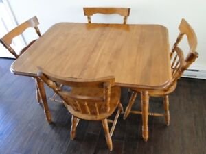 Dining room table w/ chairs for sale