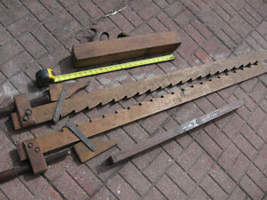 antique wood tools, plane, clamps and stanley level Windsor Region Ontario image 4