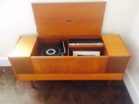 Vintage Ferguson 3352 Record Player with inbuilt speakers and radio. Fully working condition