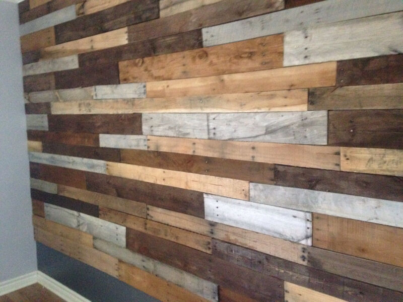 co mur bois recycl de palette et grange autre saint hyacinthe kijiji. Black Bedroom Furniture Sets. Home Design Ideas