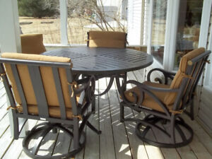 Heavy-duty steel frame  patio table and chairs