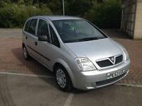 53 reg Vauxhall Meriva 1.6cc 5 Door MPV Silver