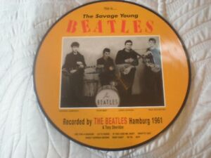 THE BEATLES LP PICTURE DISC The Savage Young Beatles MINT
