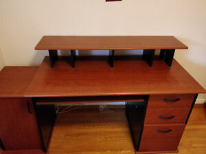 Desk - 3 drawers, cubby, lots of storage
