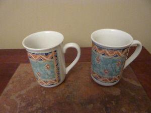 2 bone china mugs