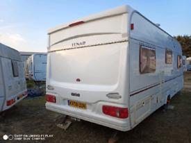 Fixed Bed Lunar Lexton 4/5 berth caravan 2003