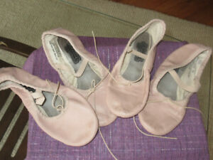 PInk Leather Johnny Brown Ballet slippers - Size 2 & 4.5