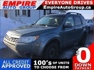 2011 SUBARU FORESTER 2.5X * AWD * ONE OWNER * LOW KM