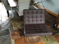 Barcelona chair dark brown