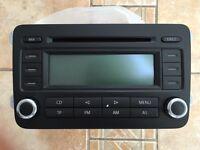 VW RCD 300 Chrome car double DIN stereo CD player