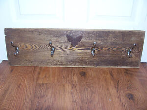Hook Towel Holder Made With Re-Claimed Wood 27 by 8