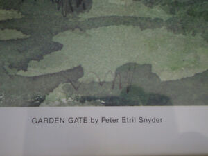 "Peter Etril Snyder - "" Garden Gate "" -  Limited Edition Print Kitchener / Waterloo Kitchener Area image 5"
