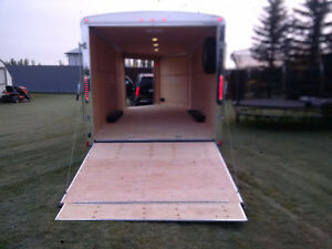 enclosed SNOWMOBLIE trailer-side by-cargo-car hauler-2017-25ft