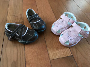 Baby Girls shoes. Size 4