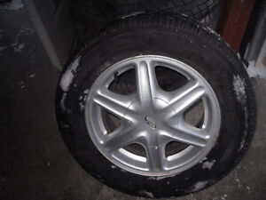tire on alloy rim