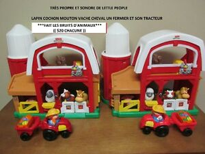 2 Fermes Sonores 6 Figurines + 1 Tracteur...$20 CHACUNE