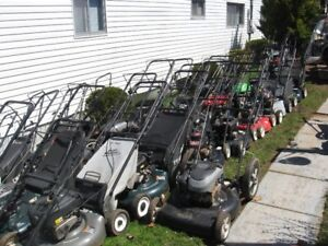 Quantity of Reconditioned Used Gas Lawn Mowers