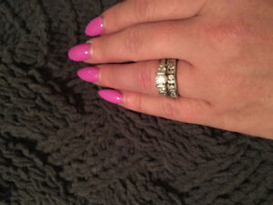 Diamond engagement and wedding ring for sale
