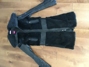 Leather and rabbit fur Mackage jacket
