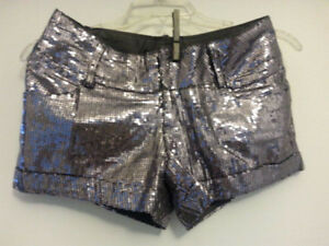 Silver sequins shorts- XS