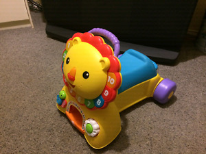 Fisher Price Lion 3 in 1 Walking/Riding Push Toy NEW