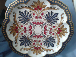 Ceramic and Gold Leafing Charger (Plate)