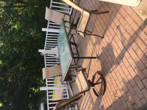 Set patio / 4 chaises