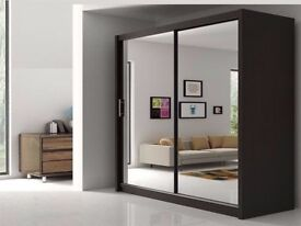 "Chicago 2 Door Sliding Mirror Wardrobe -- Same Day Delivery ""Cheap Price"""