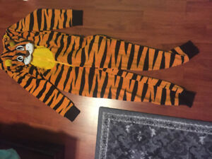 Tiger pyjamas for youth with hoodie. Size large (14). $15