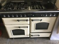 Rangemaster cream GAS cooker with Induction Hob