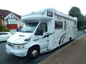 RS Eurocruiser , Iveco 2.8, 6 Berth Motorhome with huge Garage For Sale