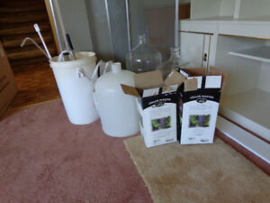 Complete wine and beer making equipment