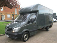 2015 Mercedes Sprinter 313CDI LWB LUTON BOX TAIL-LIFT. 14FT GREY BODY. SPECIAL