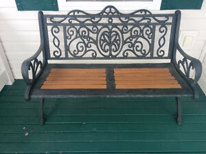 Rustic iron bench