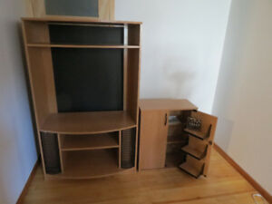 TV Stand and storage unit - in excellent condition.  reduced
