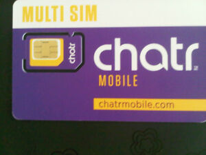 For sale sim Card New Chatr