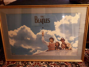Rare Beatles promotional poster