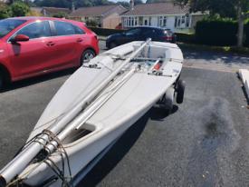 Laser 2 sailing boat