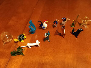 Lot of Mini Art Glass Animals - 12 pieces