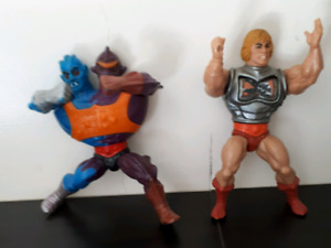 Two-bad and He-man character from original series 1980s-$10 each