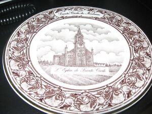 assiette de collection eglise St-Cecile de Masham