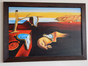 Hand Painted Oil Salvador Dali Repro.