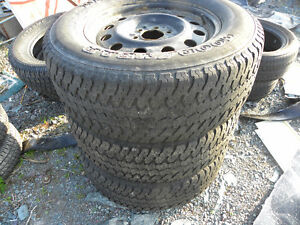 Three Goodyear Wrangler 275/65R/18