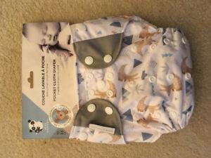 """Bébé Confort"" Cloth Diaper with 2 Bamboo inserts"