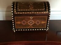Beautiful antique Moorish wood and Ivory/bone box
