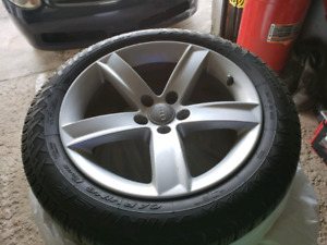 Audi A5 mags 17 inch with 225/50/17 winter tire pirreli