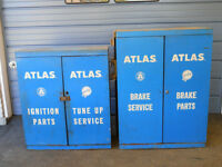 "Vintage Commercial Blue Steel Cabinets 50 Years Old   33"" Wide x"