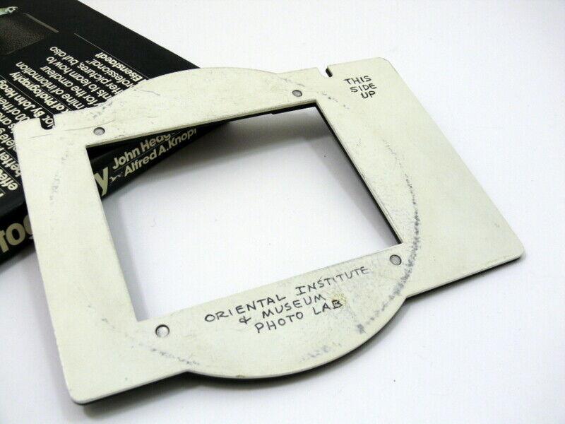 Omega D negative carrier for 4x5 negative.